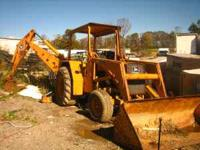 1974 john deer 410 backhoe, rebuilt motor, runs strong,