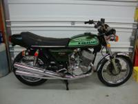 1974 Kawasaki H2 750 Survivor. Bike turns over with