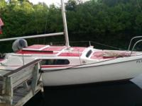 ready to sail with 9.8 mercury engine and trailor, new