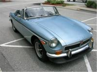 1974 . . . MGB. . . CONVERTIBLE. . . . LIGHT BLUE
