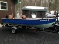 Selling my 1974, 14ft Mirro-Craft V-bottom boat with a