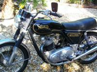 Norton 850 Commando 8501 miles total. This bike has
