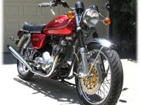 This 1974 Commando Roadster has been fitted with the