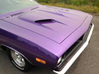 Originally a 318 car. 1974 Barracuda Gran Coupe, Plum