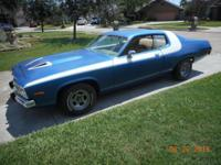 Plymouth Roadrunner with rebuilt 318 motor. Car runs