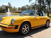 1974 Porsche 911 Targa 2,7The speedometer shows 105,107