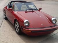 1974 PORSCHE 911 TARGA RED CLASSIC RARE WELL MAINTAINED