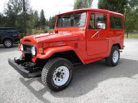 This is an initial 1974 FJ40 4-speed. It was gotten by
