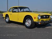 1974 Triumph TR6! Show winner! Factory hardtop and new