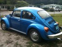 1974 super beetle blue. Runs and drives needs passenger