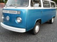 1974 Classic VW transporter - rear seat folds into bed