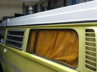 1974 Westfalia popup Camper, Barn Find, New 3 window