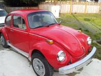 For sale is a 1974 Volkswagen Super Beetle with factory