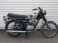 Up for sale is barn fresh 1974 yamaha 100 with 6,000