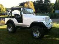 1974 Jeep CJ5. 360 3 speed. Also have doors. Ground off