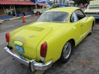 1974 VW Karman Ghia ..This Little Car has/ ..Been Given