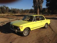 $15,500 or best offer. 1975 BMW 2002 Original