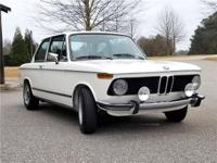 1975 BMW 2002 Tii.4-Speed Manual.Chamonix White.Blue