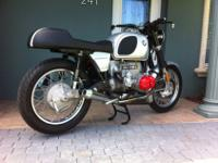 AWSOME BMW R90 CAFE RACER RUNS GREAT LOOKS GREAT NEEDS