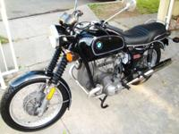 Up for sale my 1975 BMW R60/6 airhead bike in
