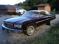 1975 Caprice Convertible, car has 350 engine I