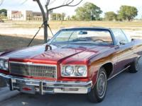 Offering a 1975 Chevrolet Caprice Convertible. This is