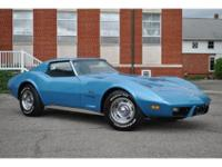 IS A VERY CLEAN 1975 CORVETTE COUPE HAVING COVERED ONLY
