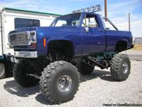 1975 Chevy 1500 Lifted 4x4 Classic Old School High Lift