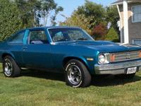 1975 NOVA 2 DOOR 350 V8 FACTORY THREE SPEED ON THE