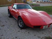1975 Red, Corvette Stingray 87000 miles automatic