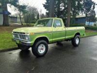 1975 Ford F250 4X4 Single cab. Factory highboy Original
