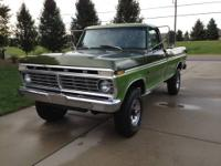"Up for sale is a 1975 Ford F250 ""Factory Highboy"" 4x4"