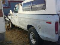 1975 3/4 ton Ford pickup camper special ..390 engine