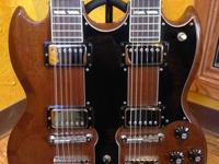 Gorgeous Vintage Gibson SG Double Neck EDS-1275 in