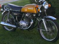 I have a 1975 Honda CB 200 street bike for sale. This
