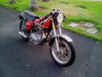 Up for sales is my amazing 1975 Honda CB360T. CA Blue