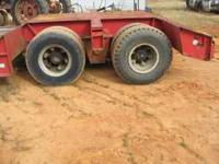 i got 1975 moder low boy trailer 60 ton drop deck needs
