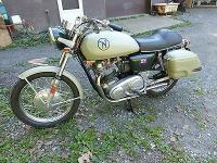 It is currently built on a 1975 Norton Mark 3 frame