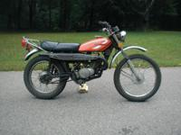 1975 Honda XL-175 vintage dirt bike.oil injected two