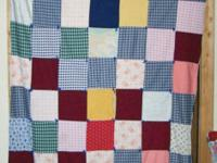 "We have a 1975 Tied Squares Quilt 79"" Long by 37"" Wide."