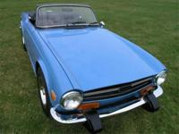 Excellent in every way , 1974 TR6 , every item on this