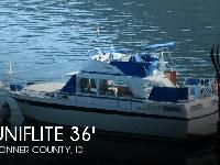 - Stock #080934 - The Uniflite 36 Double Cabin was one