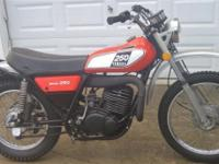 1975 Yamaha DT250 Enduro with just 1,100 miles. Partial
