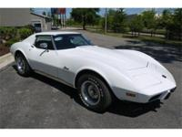 Very original White 1975 Corvette coupe that is a true