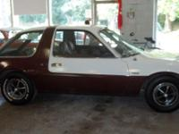 1976 AMC Pacer. 6cyl engine and smooth 3 speed on the