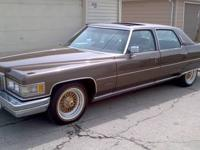 You are looking at a nice rare 1976 Cadillac fleetwood