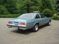 Super clean 1976 V8 Nova from California, Blue / Black,