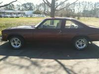1976 Nova with less than 1,000 miles on engine. -