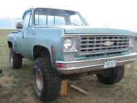 Here is a 1976 Chevy SHORTBED PICKUP Truck. Was
