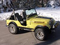 1976 CJ5 Jeep Was $8,500 - Reduced - $6,500 304 V8 ? 3
